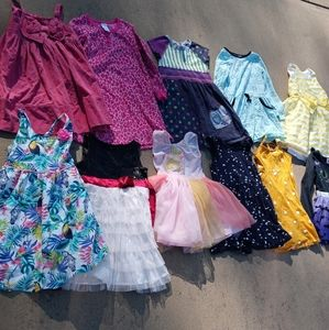 Bundle of 11 girls dresses all fit a 5 year old